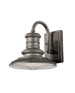 Feiss Redding Station 1 Light Outdoor Small Wall Lantern In Tarnished Finish