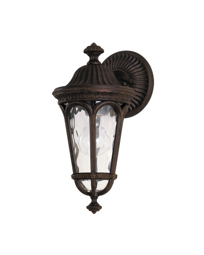 Feiss Regent Court 1 Light Outdoor Small Wall Lantern In Walnut Finish