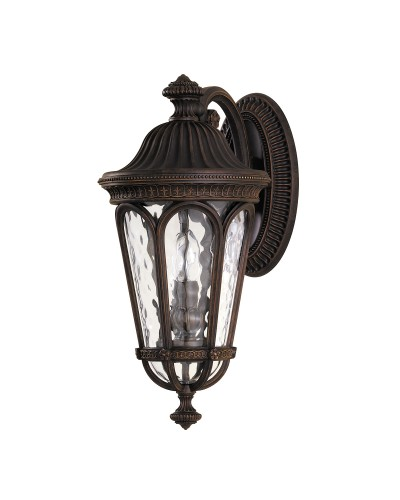 Feiss Regent Court 2 Light Outdoor Medium Wall Lantern In Walnut Finish