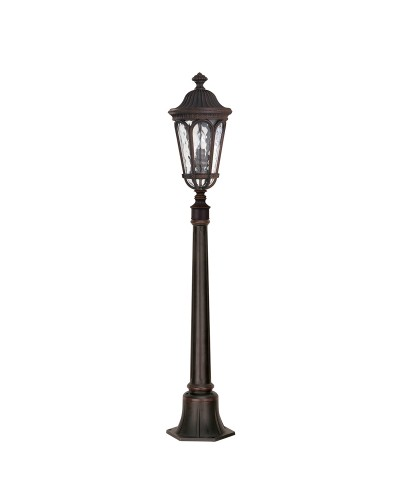 Feiss Regent Court 2 Light Outdoor Pillar In Walnut Finish