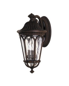 Feiss Regent Court 3 Light Outdoor Large Wall Lantern In Walnut Finish
