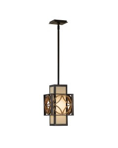 Feiss Remy 1 Light Mini Pendant In Heritage Bronze And Parisienne Gold Finish With Height Adjustable Rods