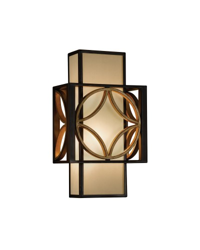 Feiss Remy 1 Light Wall Light In Heritage Bronze And Parisienne Gold Finish
