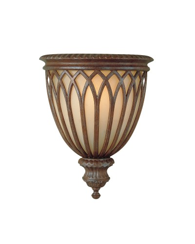 Feiss Stirling Castle 1 Light Wall Uplighter In British Bronze Finish