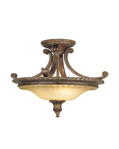 Feiss Stirling Castle 2 Light Semi-Flush Ceiling Light In British Bronze Finish