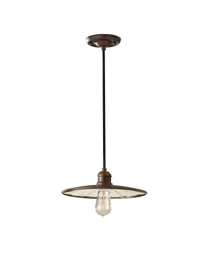 Feiss Urban Renewal 1 Light Mini Pendant In Astral Bronze Finish With Height Adjustable Cord