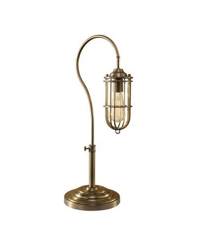 Feiss Urban Renewal 1 Light Table Lamp In Dark Antique Brass Finish