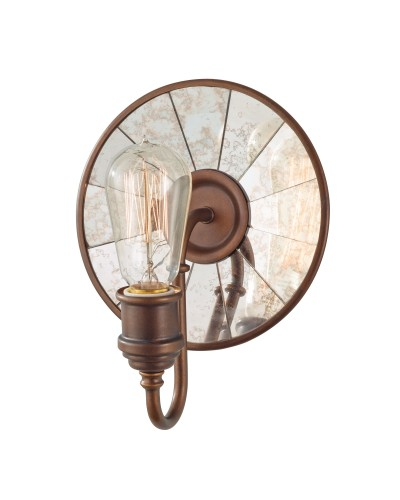 Feiss Urban Renewal 1 Light Wall Light In Astral Bronze Finish