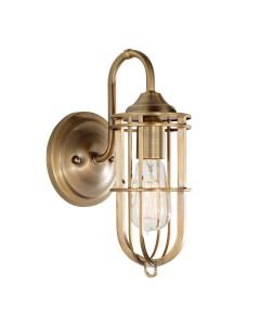 Feiss Urban Renewal 1 Light Wall Light  In Dark Antique Brass Finish