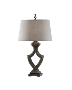 Feiss Westwood/B 1 Light Table Lamp In Weathered Black Finish With Toasted Wheat Linen Shade
