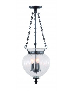 Elstead Lighting Finsbury Park 3 Light Medium Pendant In Old Bronze Finish With Telescopic Adjustable Rod