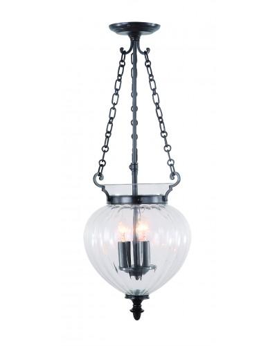 Elstead Lighting Finsbury Park 3 Light Medium Pendant In Old Bronze Finish With Telescopic Adjustable Rod