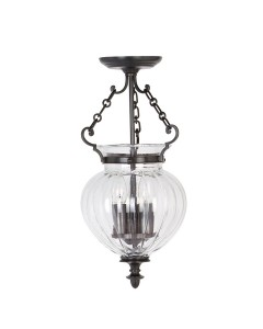 Elstead Lighting Finsbury Park 3 Light Small Pendant In Old Bronze Finish With Telescopic Adjustable Rod