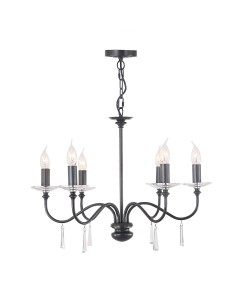 Elstead Lighting Finsbury Park 6 Light Duo Mount Chandelier In Old Bronze Finish
