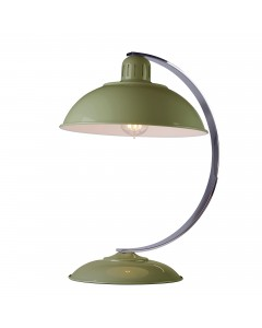 Elstead Lighting Franklin Green 1 Light Desk Lamp Finished In Reed Green Enamel Paint With Polished Chrome Arch