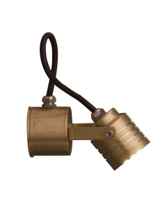 Garden Zone - Elite LED Outdoor Multi Directional Spot Light In Solid Natural Brass