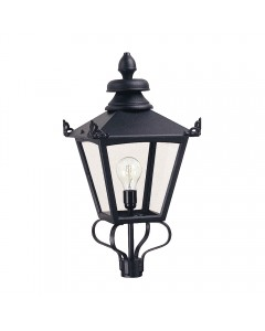 Elstead Lighting Grampian 1 Light Outdoor Large LANTERN HEAD ONLY In Black Finish
