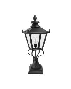 Elstead Lighting Grampian 1 Light Outdoor Large Pedestal Lantern In Black Finish