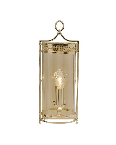 Elstead Lighting Guildhall 1 Light Wall Light In Polished Brass Finish