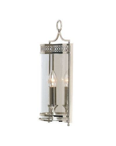 Elstead Lighting Guildhall 1 Light Wall Light In Polished Nickel Finish
