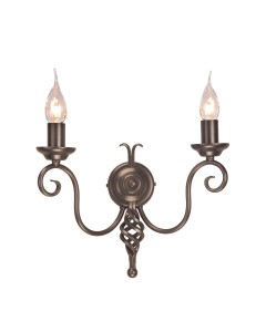 Elstead Lighting Harlech 2 Light Wall Light In Dark Bronze Finish