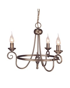 Elstead Lighting Harlech 3 Light Chandelier In Dark Bronze Finish