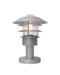Elstead Lighting Helsingor 1 Light Outdoor Pedestal Lantern In Metallic Silver Finish