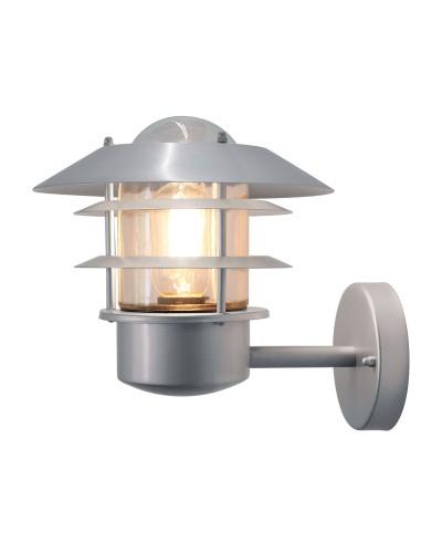 Elstead Lighting Helsingor 1 Light Outdoor Wall Lantern In Metallic Silver Finish