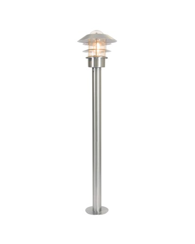 Elstead Lighting Helsinki 1 Light Outdoor Bollard Lantern In Stainless Steel