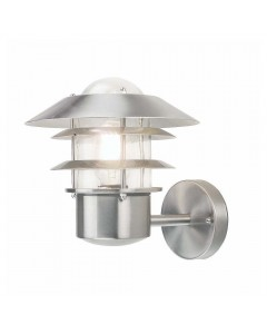 Elstead Lighting Helsinki 1 Light Outdoor Wall Lantern In Stainless Steel