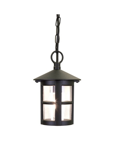 Elstead Lighting Hereford 1 Light Outdoor Chain Lantern In Black Finish