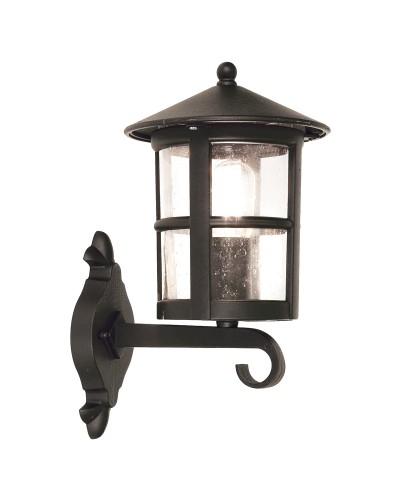 Elstead Lighting Hereford Grande 1 Light Outdoor Upward Wall Lantern In Black Finish