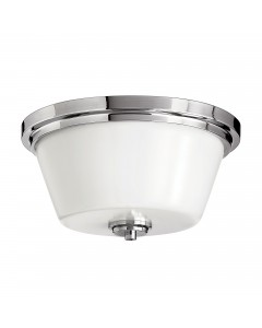 Hinkley Avon 2 Light Bathroom Flush Mounted Ceiling Light In Polished Chrome Finish (IP44)