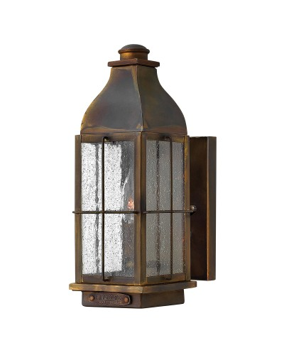 Hinkley Bingham 1 Light Outdoor Small Wall Lantern In Sienna Finish