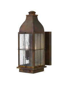 Hinkley Bingham 2 Light Outdoor Medium Wall Lantern In Sienna Finish