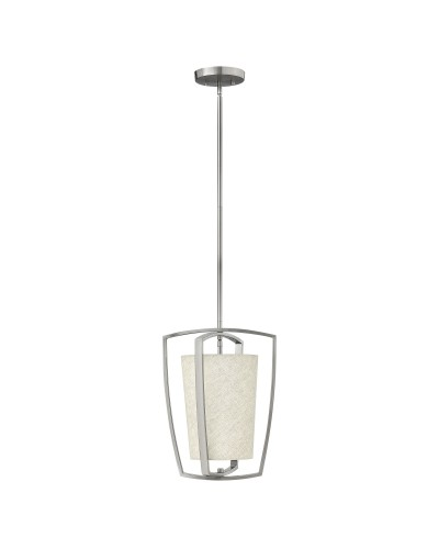 Hinkley Blakely 1 Light Pendant In Brushed Nickel Finish With Height Adjustable Rods