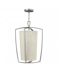Hinkley Blakely 3 Light Large Pendant In Brushed Nickel Finish With Chain