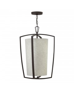 Hinkley Blakely 3 Light Large Pendant In Buckeye Bronze Finish With Chain