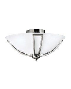Hinkley Bolla 2 Light Flush Ceiling Light In Brushed Nickel Finish