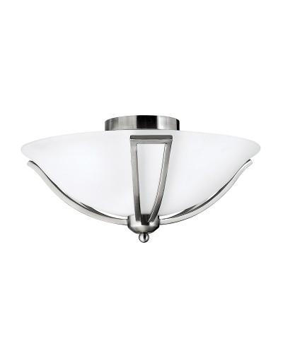 Hinkley Bolla 2 Light Flush Ceiling Light In Brushed Nickel Finish