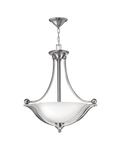 Hinkley Bolla 3 Light Large Uplight Pendant In Brushed Nickel Finish