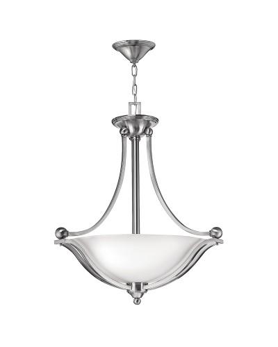Hinkley Bolla 3 Light Large Uplight Pendant In Brushed Nickel Finish