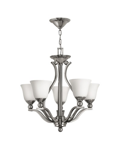Hinkley Bolla 5 Light Chandelier In Brushed Nickel Finish
