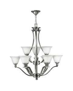 Hinkley Bolla 9 Light Chandelier In Brushed Nickel Finish