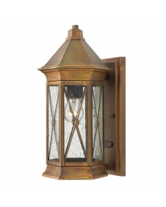 Hinkley Brighton 1 Light Outdoor Small Wall Lantern In Sienna Finish