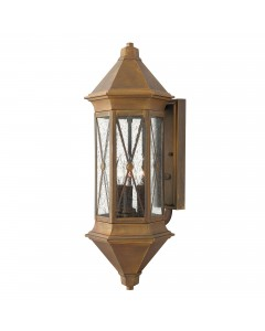 Hinkley Brighton 3 Light Outdoor Large Wall Lantern In Sienna Finish