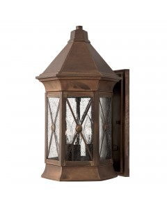 Hinkley Brighton 3 Light Outdoor Medium Wall Lantern In Sienna Finish
