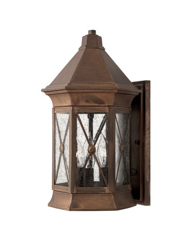 Hinkley Brighton 3 Light Outdoor Medium Wall Lantern In Sienna Finish