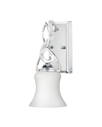 Hinkley Brooke 1 Light Bathroom Wall Light In Polished Chrome Finish With Opal Glass Shade (IP44)