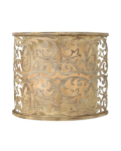 Hinkley Carabel 2 Light Wall Light In Brushed Champagne Finish With Ivory Linen Shade